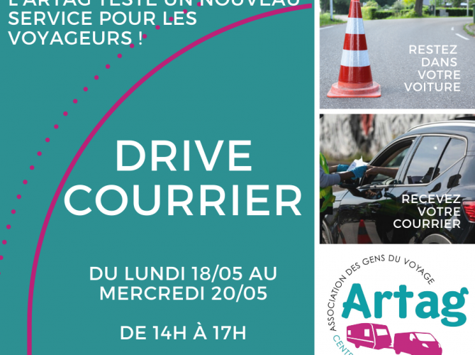 Drive courrier confinement