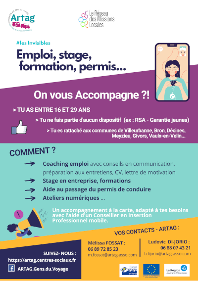 Accompagnement jeunes insertion professionelle invisibles